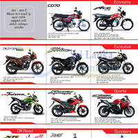 Here are the latest offers for Honda motorbikes from Stafford Motor Company