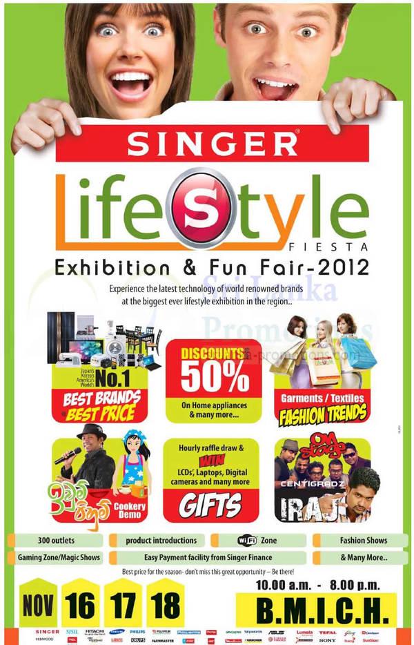 Featured image for Singer Lifestyle Fiesta Exhibition & Fun Fair 2012 @ BMICH 16 – 18 Nov 2012