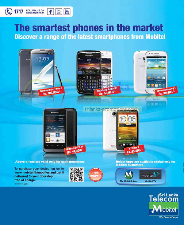 Featured image for Mobitel Smartphones Offers Price List 4 Nov 2012