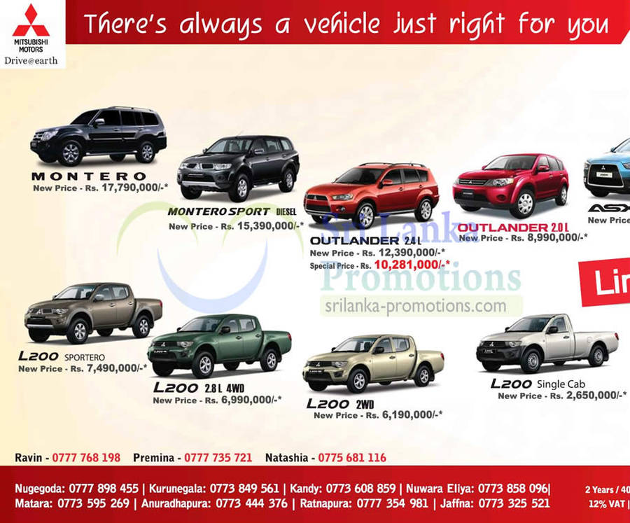 Mitsubishi Motor Vehicles Promotion United Motors Lanka