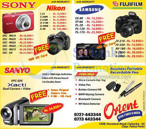 Featured image for Orient Nikon, Sony, Samsung & Fujifilm Digital Cameras & DSLR Offers 9 Nov 2012