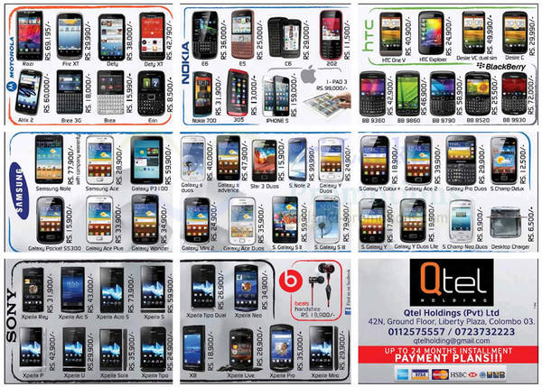 Featured image for Qtel Holdings Sony, Samsung, Blackberry & More Smartphone Price Offers 4 Nov 2012
