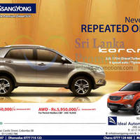 Read more about Ssangyong Korando SUV Ideal Automobile Promotion Offer 4 Nov 2012