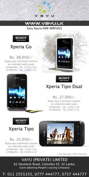 Featured image for Vayu Sony Xperia Smartphone Offers 11 Nov 2012