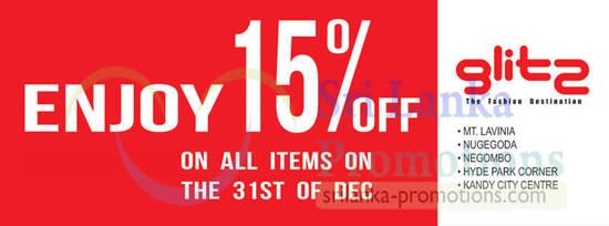15 Percent Off All Items