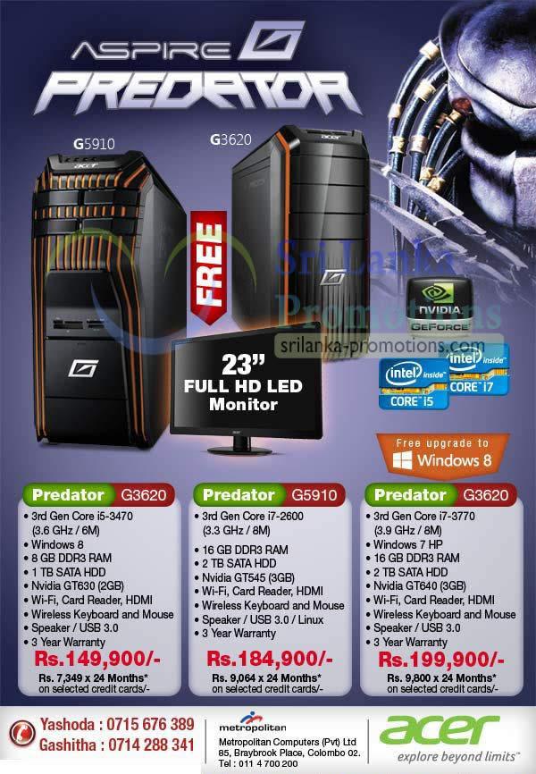 acer predator gaming desktop pc metropolitan offers 16 dec