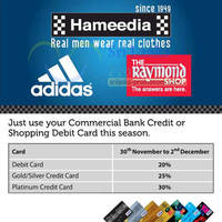 Read more about Hameedia Up To 30% Off Discount For Commercial Bank Cardmembers 30 Nov - 2 Dec 2012