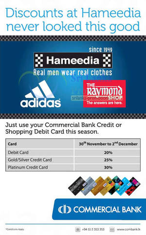 Featured image for Hameedia Up To 30% Off Discount For Commercial Bank Cardmembers 30 Nov – 2 Dec 2012