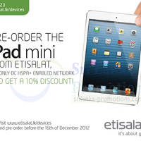 Read more about Etisalat Apple iPad Mini 10% Off Pre-Order Offer 7 - 16 Dec 2012