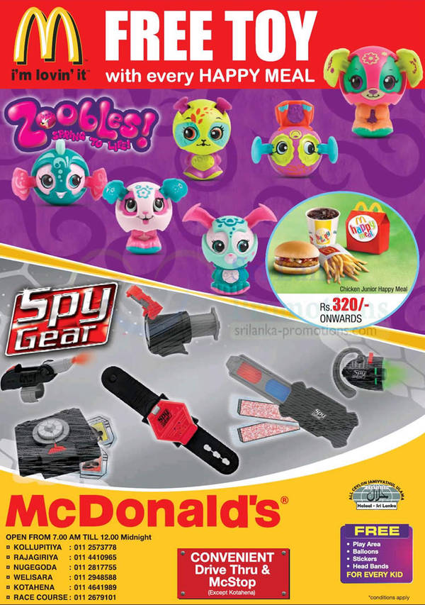 Featured image for McDonald's Sri Lanka FREE Toy With Every Happy Meal 20 Dec 2012