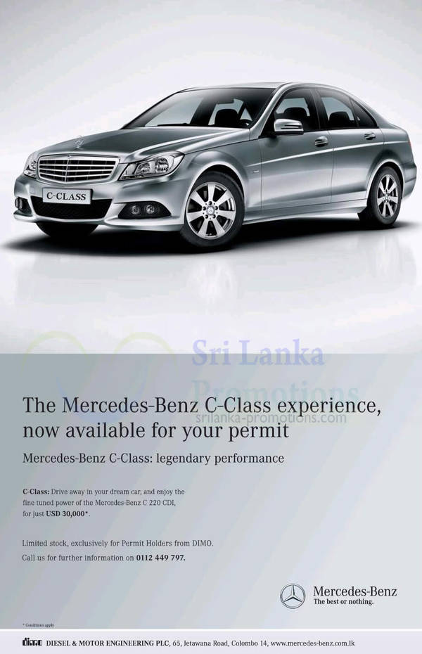 Featured image for Mercedez Benz C-Class Price 20 Dec 2012