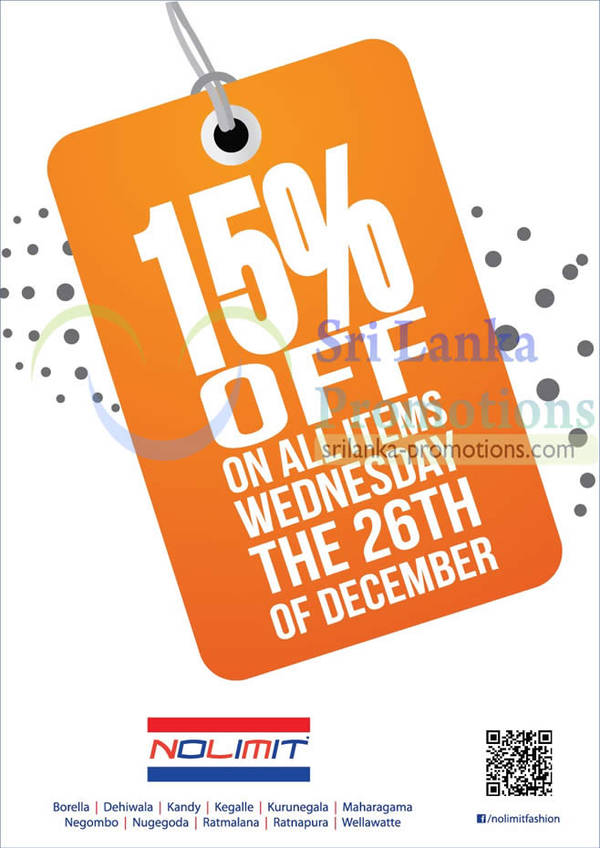 Featured image for Nolimit 15% Off Storewide Promotion 26 Dec 2012