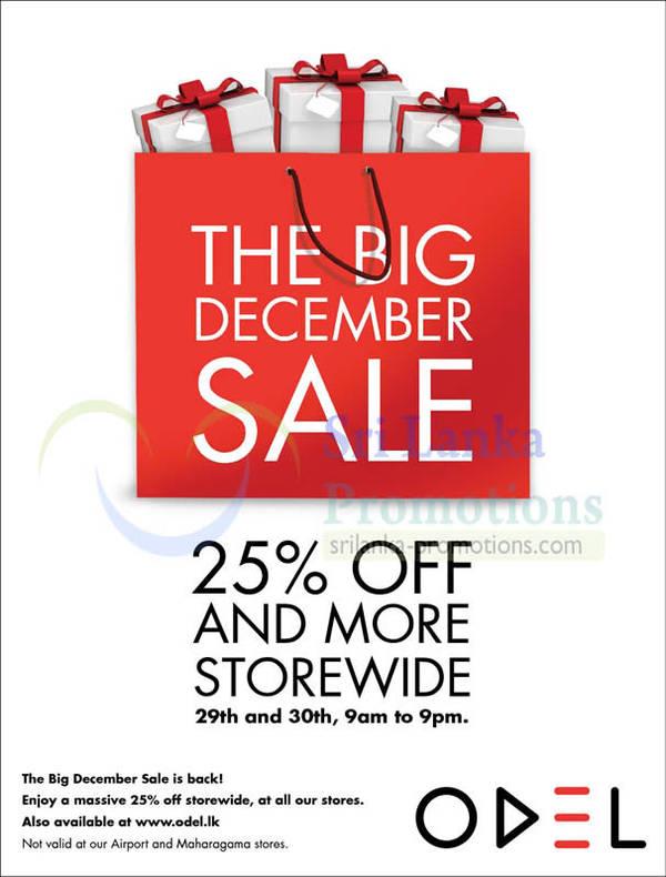 Featured image for Odel Big December Sale Over 25% Off Storewide 29 – 30 Dec 2012