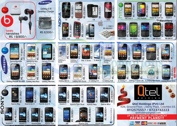 Featured image for Qtel Holdings Sony, Samsung, Blackberry & More Smartphone Price Offers 2 Dec 2012