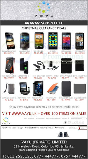 Featured image for Vayu Mobile Phones Christmas Clearance Sale 19 Dec 2012