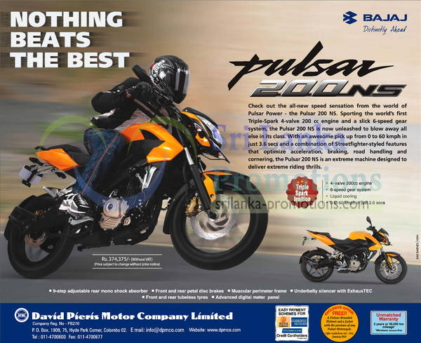 Featured image for Bajaj Pulsar Motorcycle Features & Price 16 Jan 2013