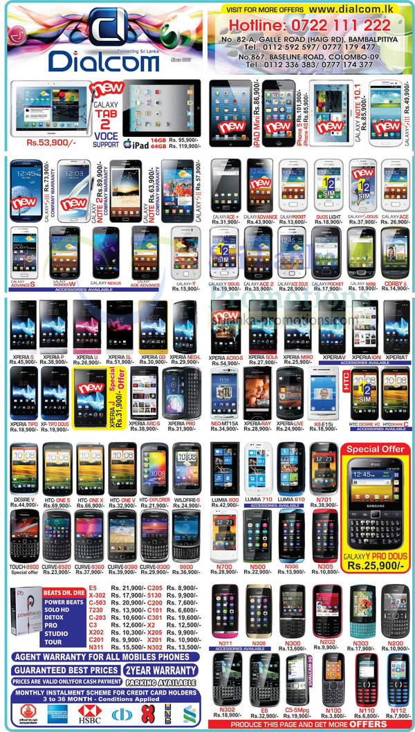 Featured image for Dialcom Smartphones & Mobile Phones Price List Offers 30 Jan 2013
