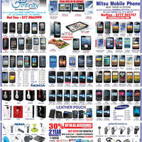 Read more about Infinity Store (Mitsu) Smartphones & Mobile Phones Price List Offers 6 Jan 2013