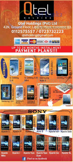 Featured image for Qtel Holdings Sony, Samsung, Blackberry & More Smartphone Price Offers 13 Jan 2013