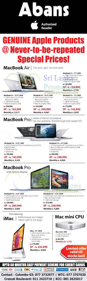 Apple Mac Book Prices (Sep 2019) | Sri Lanka Promotions