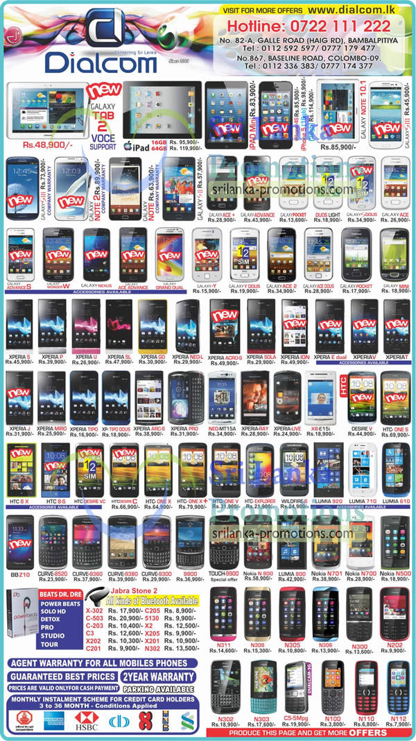 Featured image for Dialcom Smartphones & Mobile Phones Price List Offers 16 Feb 2013