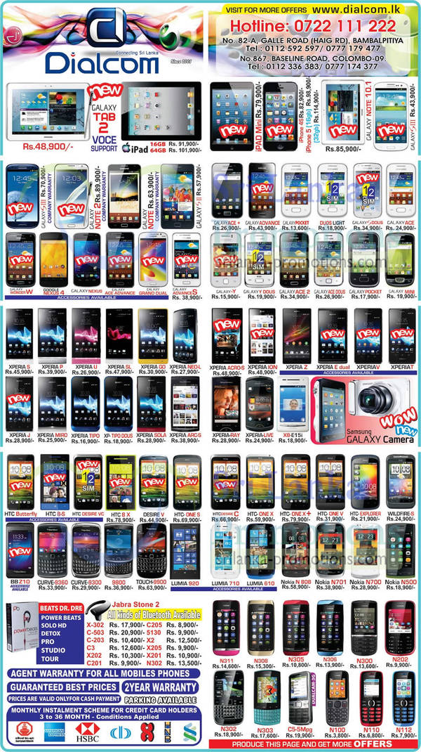 Featured image for Dialcom Smartphones & Mobile Phones Price List Offers 24 Feb 2013