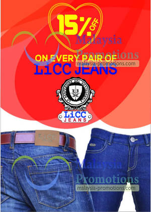 Featured image for NoLimit 15% Off LICC Jeans Promotion 6 – 15 Feb 2013