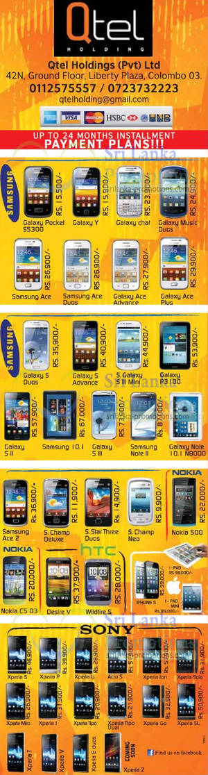 Featured image for Qtel Holdings Sony, Samsung, Blackberry & More Smartphone Price Offers 24 Feb 2013