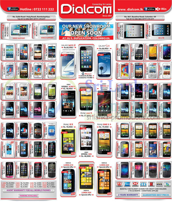 Featured image for Dialcom Smartphones & Mobile Phones Price List Offers 17 Mar 2013