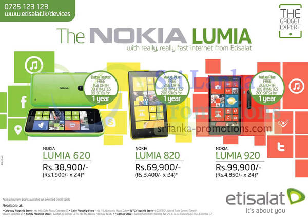 Featured image for Etisalat Nokia Lumia Smartphone Offers 24 Mar 2013
