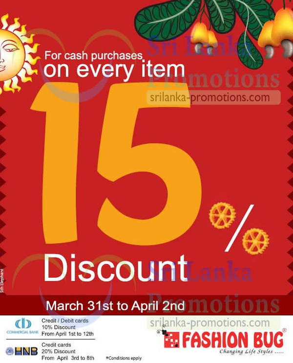 Featured image for Fashion Bug Up To 20% Discount 31 Mar – 8 Apr 2013