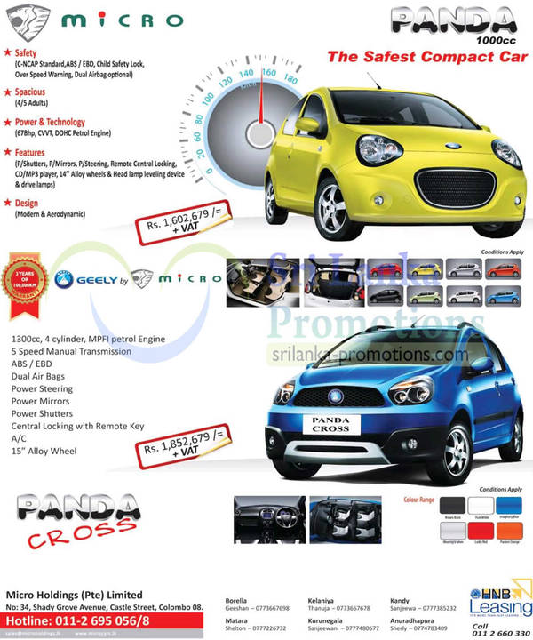 Featured image for Geely Micro Panda Cross & Geely Panda Cars Features & Price 24 Mar 2013