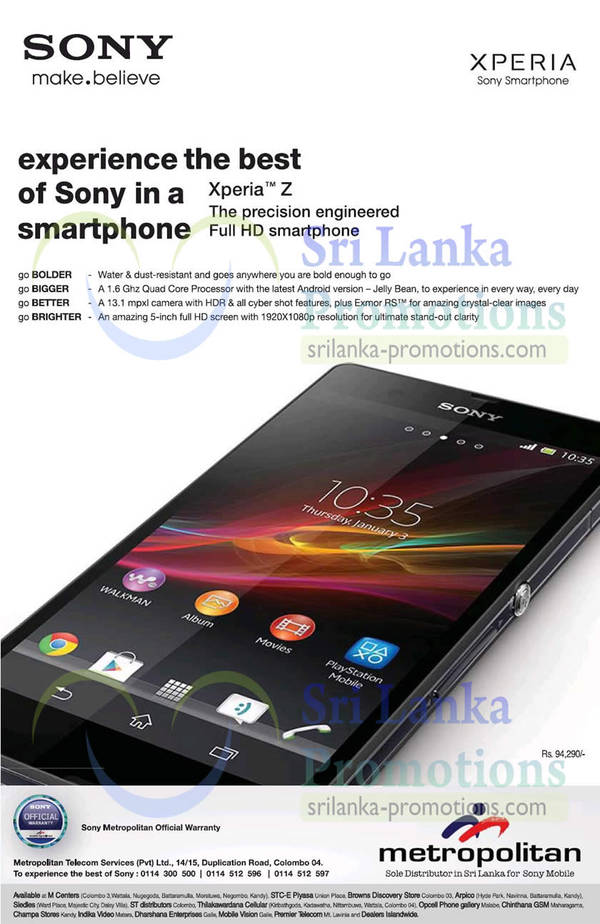 Featured image for Sony Xperia Z Features & Price 27 Mar 2013