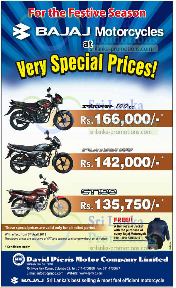 Featured image for Bajaj Motorcycles Promotion Offers 19 Apr 2013