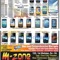 Read more about M-Zone Smartphones & Mobile Phones Price List Offers 21 Apr 2013
