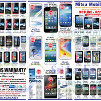 Read more about Mitsu Mobile Phone Smartphones & Mobile Phones Price List Offers 21 Apr 2013
