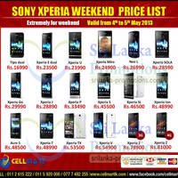 Read more about Cellmart Sony Smartphones & Mobile Phone Offers 3 May 2013