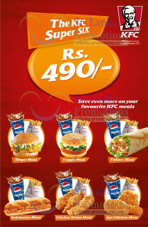 Featured image for KFC Rs 490 Combo Meal Offers 21 May 2013