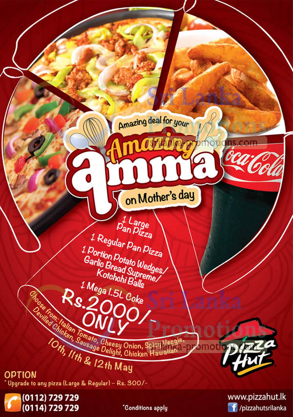 Featured image for Pizza Hut Amazing Amma Combo Meal Deal (Dine-in / Delivery) 10 – 12 May 2013
