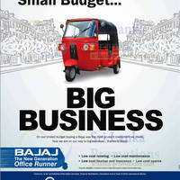 Small Budget, Big Business. That's the Bajaj Three Wheeler.