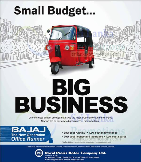 Featured image for Bajaj Three Wheeler Price & Features 18 Jun 2013