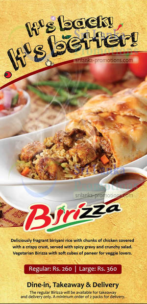 Featured image for Pizza Hut's Birizza Meal is BACK 27 Jun 2013