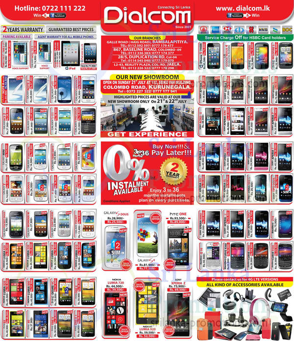 Featured image for Dialcom Smartphones & Mobile Phones Price List Offers 23 Jul 2013