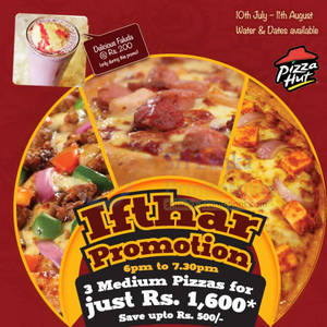 Featured image for Pizza Hut 3 Reg Pizza For Rs 1600 Ifthar Promotion 10 Jul – 11 Aug 2013