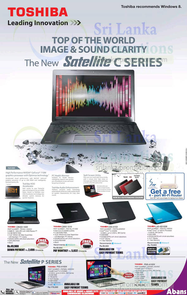 Featured image for Abans Toshiba Satellite Notebooks Features & Offers 18 Aug 2013