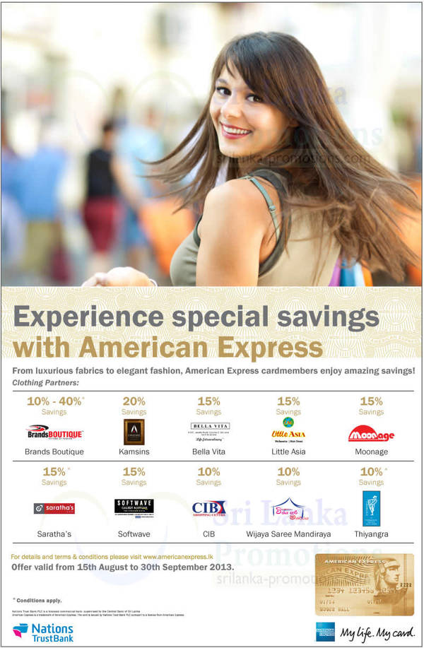 Featured image for American Express Up To 40% Off @ Selected Fashion Outlets 15 Aug – 30 Sep 2013