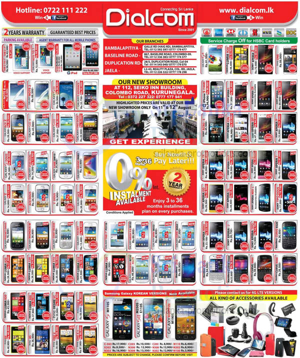 Featured image for Dialcom Smartphones & Mobile Phones Price List Offers 11 Aug 2013