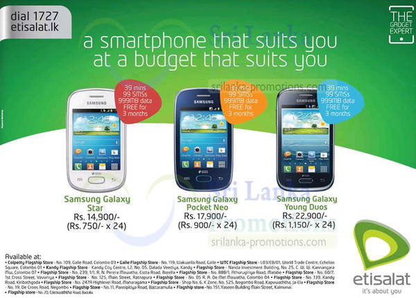 List of Etisalat related Sales, Deals, Promotions & News