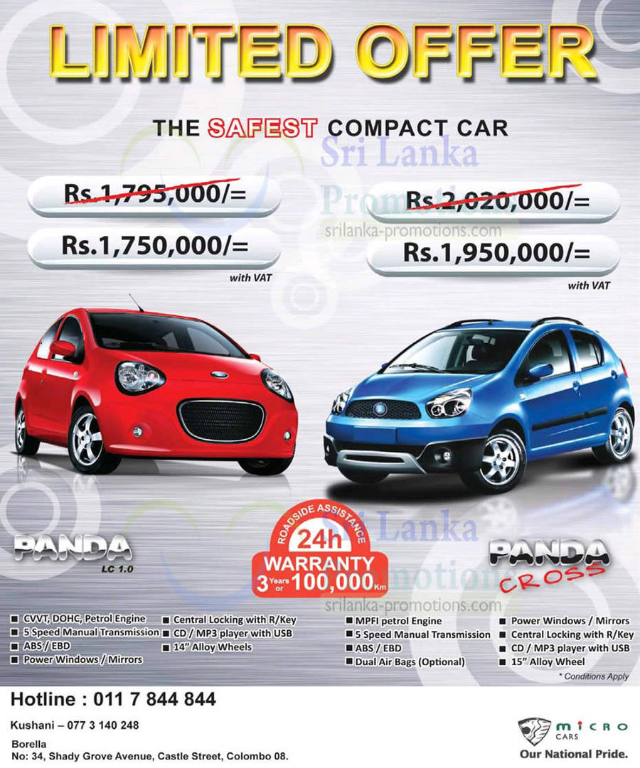 Micro Panda Auto Gear Car Price In Sri Lanka