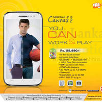Read more about Micromax Canvas 2 Android Smartphone Features & Price 11 Aug 2013